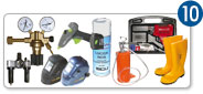 10 - WELDING TOOLS - TOOLS FOR COMPRESSED AIR-GAS TREATMENT